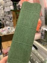 Italienskt crepepapper 140 gram, 50 x 250 cm, nr 965 grön