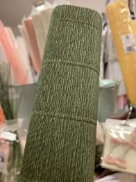 talienskt crepepapper 180 gram, 50 x 250 cm, nr 17a8 mörk grön