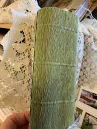 Italienskt crepepapper 140 gram, 50 cm x 250 cm, nr 962 grön