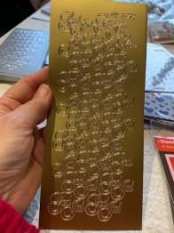 Peeloff stickers mini God Jul, guld