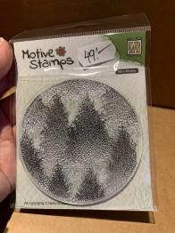 Clearstamps Nellie Snellen, granar bakgrund 8x8 cm