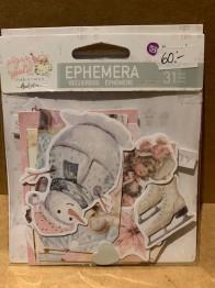 Ephemera, die cuts från Prima, sugar cookie christmas