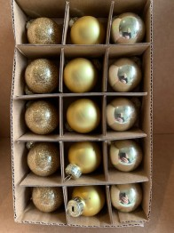 Mini julgranskulor, klicka på bilden för att se varianter - Bild 1 guld