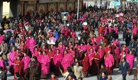10 mars 2008 i Labrang, Tibet. Foto skickat från Tibet.