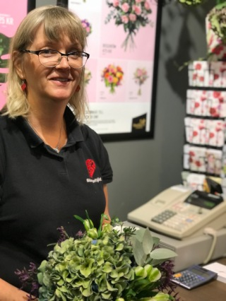 Catarina Enstedt är innehavare av Blomsterhjärtat