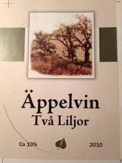 Äppelvin på 2010 års äpplen i trädgården.