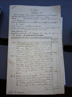 Försäkringsanmälan från 1857.