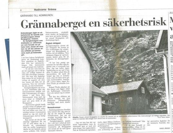 Reportage i JP 8 jan 2008