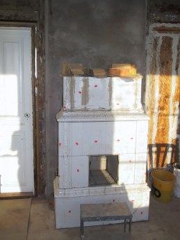 Kakelugnen i vardagsrummet