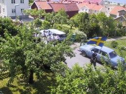 Framsidan med nstudentorkester i bakgrunden (juni 2002).