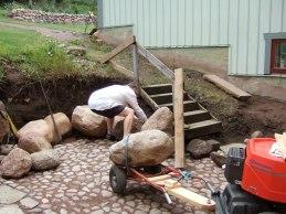 Sedan dags för mur (aug 2006).