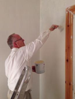 Målning övre hall 2013-12-28