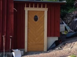 Nya dörren på nya delen.