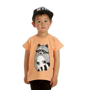 T-shirt Raccoon Cantaloupe