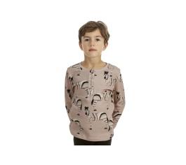 Long Sleeve T-shirt Zebra