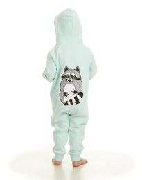 Onesie Raccoon Mint