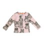 Long Sleeve T-shirt Fat Cats + Pug Rose AOP