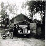 Putsning av Scania 75 vid garaget