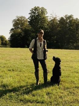 Ulrika Cronvall, Chef för hundteamen under våra andjakter med  enormt duktiga Leupold