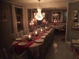 I stora matsalen finns plats för ett riktigt jaktsällskap med 24 platser runt långbordet