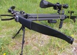 Exempel på upprustat armborst Ultimate-Sniper med tillbehör som inte ingår i priset