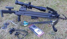 Armborst Ultimate-Sniper 400 samt tillbehöret som ingår i priset med undantag av kikarsiktet