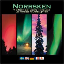 En vacker bok om norrsken. Skriven på svenska, engelska, tyska, franska och japanska. 16x16 cm. 63 sidor.