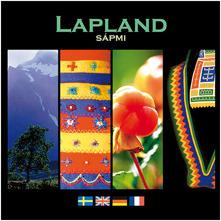 En bok om Lappland och samer. Skriven på svenska, engelska, tyska och franska. 16x16 cm. 63 sidor.