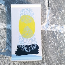 """Bricka """"Luft"""" av björkfaner. 43x23 cm. Design: Jenny Sundquist-Ek"""
